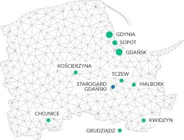 Obszar działania firmy od monitoringu i alarmów DNMAX -